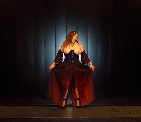 Teatro - Toute en scène dans Bustier noir enk64_th13